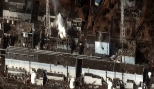 Damaged nuclear plant in Fukushima